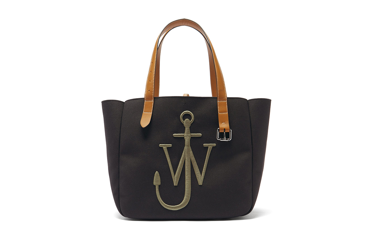 JW ANDERSON Belt embroidered-anchor canvas tote bag