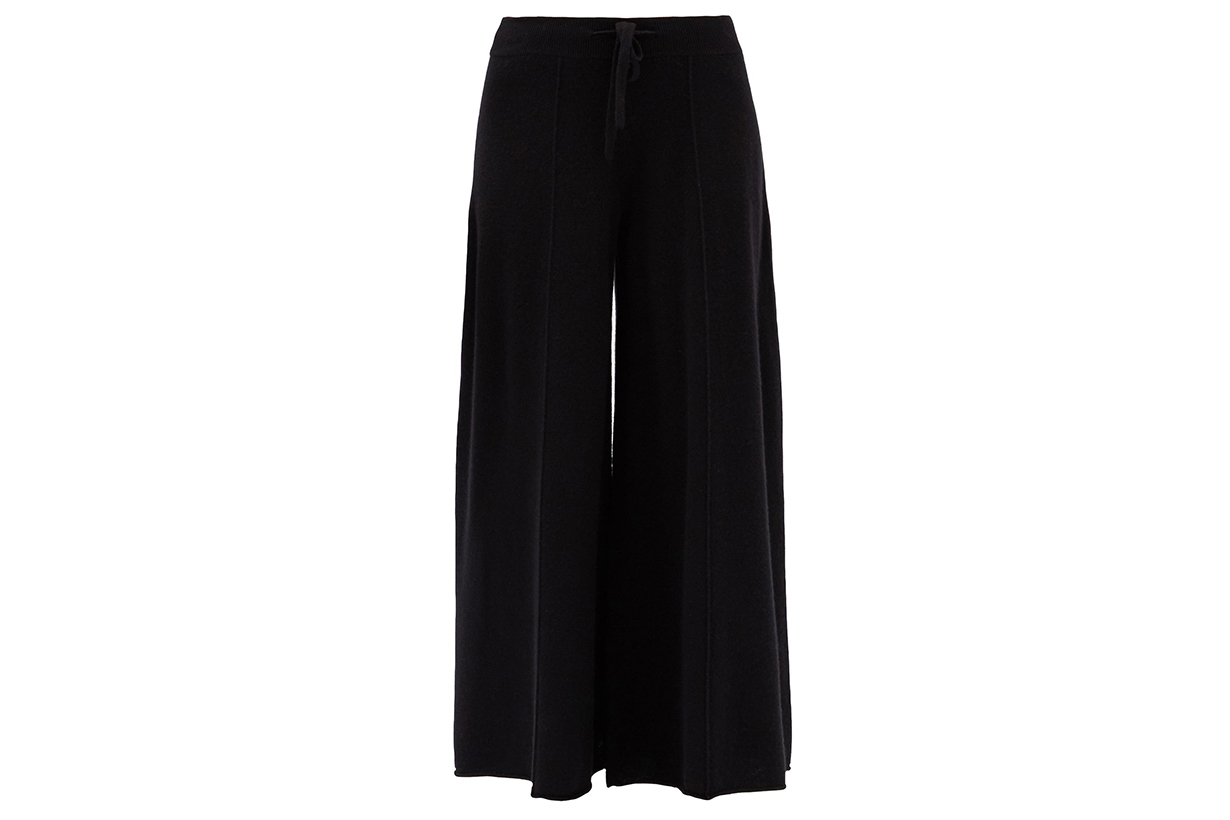 Kate high-rise cashmere wide-leg trousers