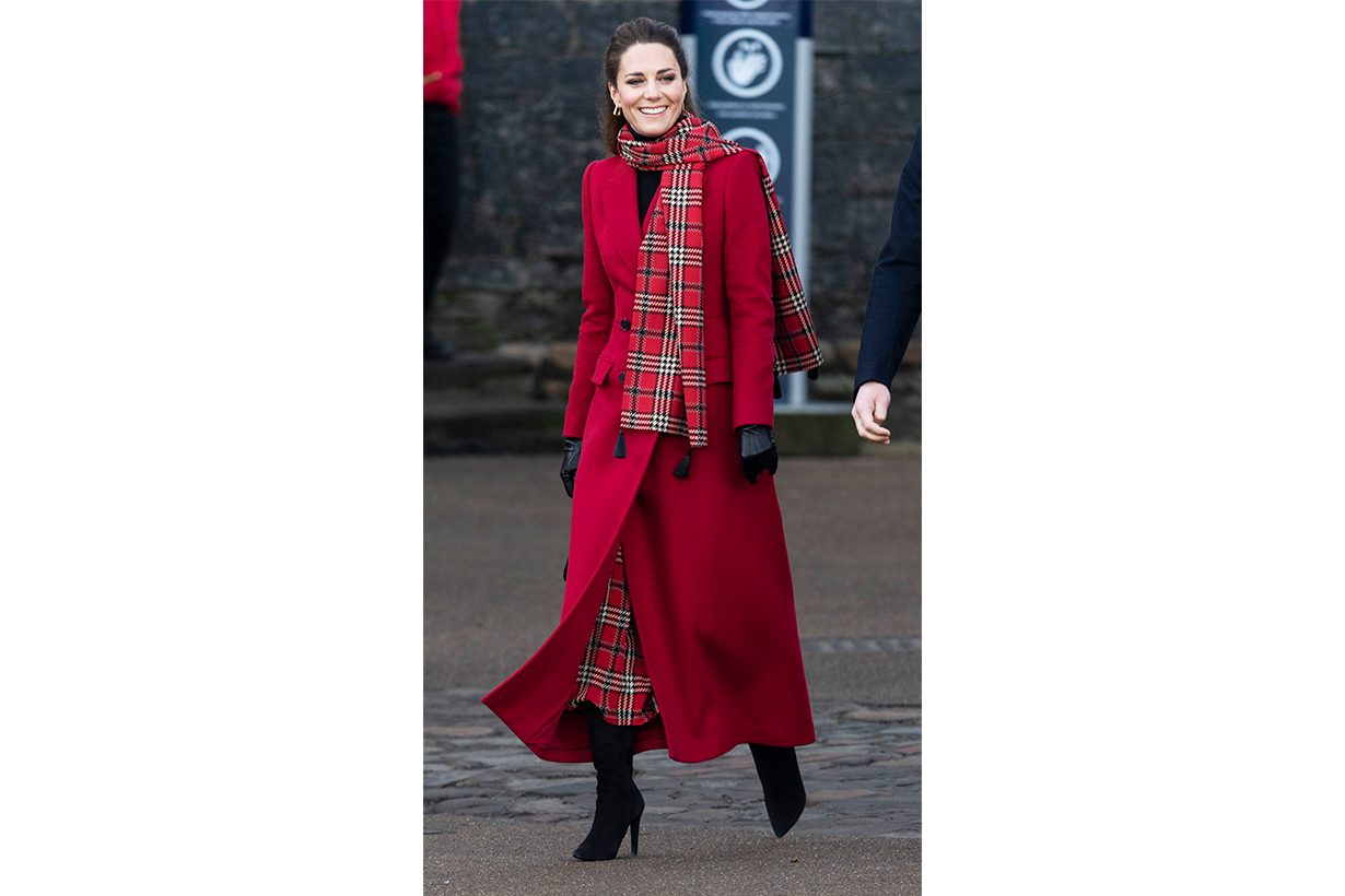 Catherine, Duchess of Cambridge visits Cardiff Castle as part of their working visits across the UK ahead of the Christmas holidays on December 8, 2020 in Cardiff, United Kingdom. During the tour William and Kate will visit communities, outstanding individuals and key workers to thank them for their efforts during the coronavirus pandemic.