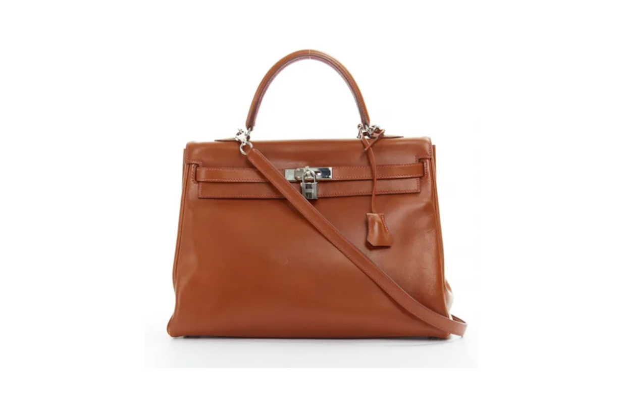 KELLY 35 LEATHER HANDBAG