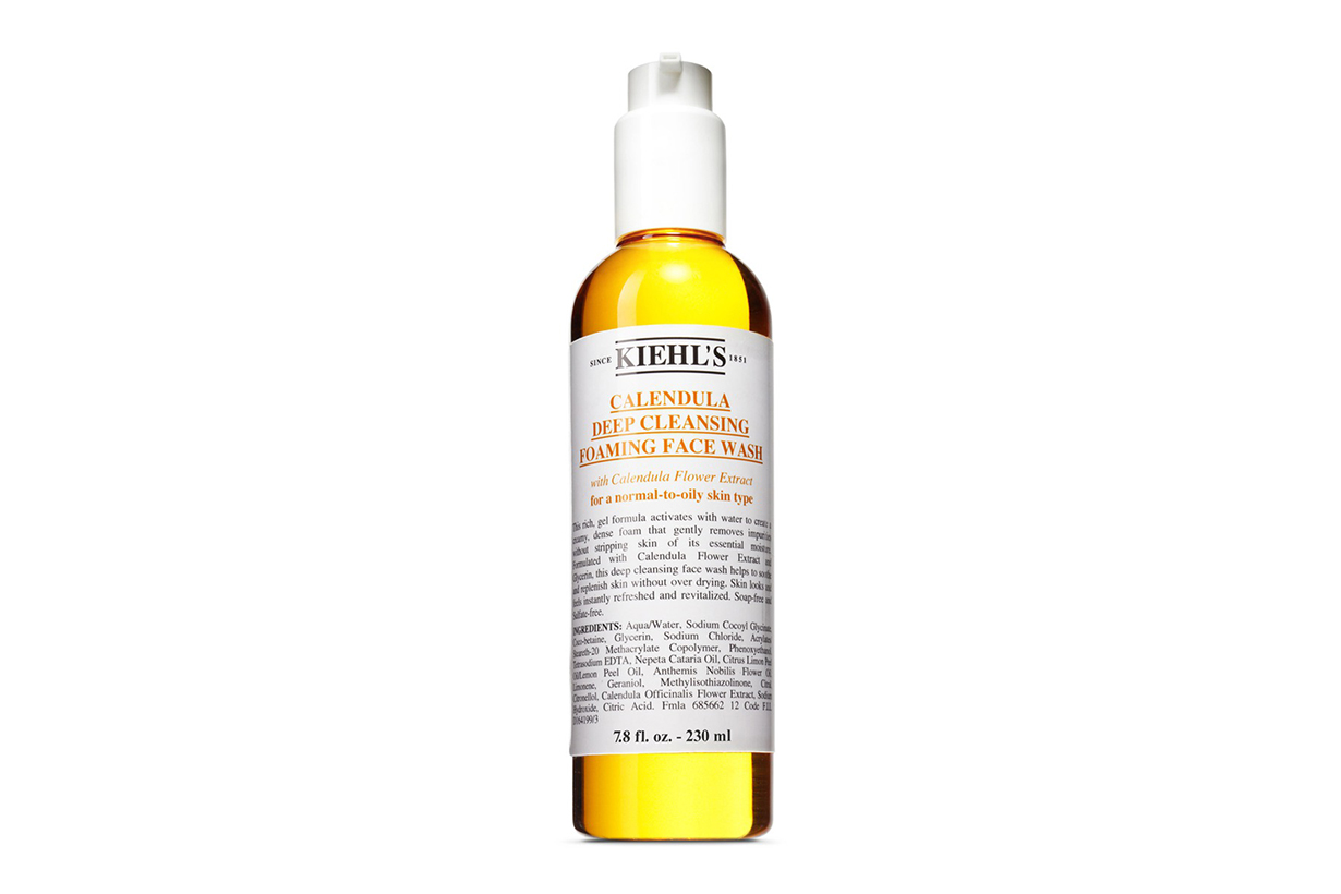 KIEHL'S SINCE 1851 CALENDULA DEEP CLEANSING FOAMING FACE WASH RARE EARTH DEEP PORE DAILY CLEANSER  Face cleanser skincare