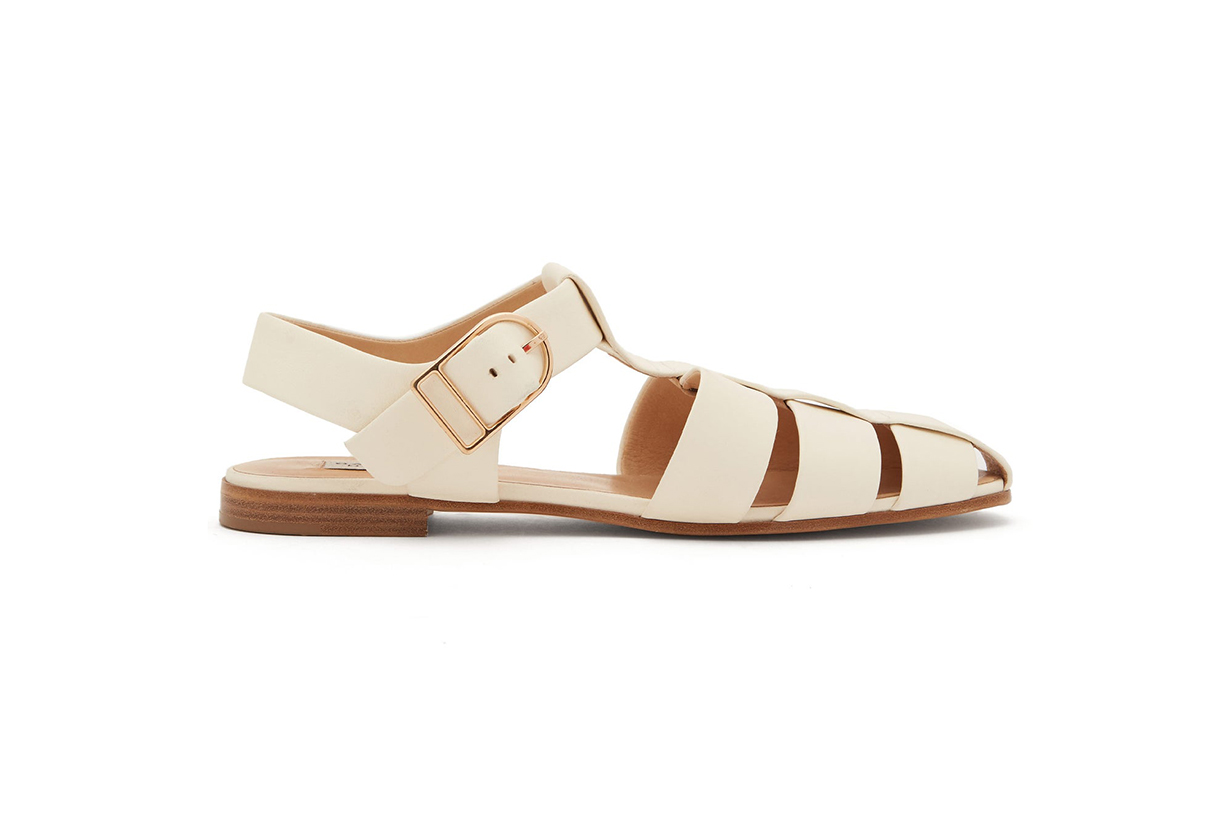 Lynn caged leather slingback sandals