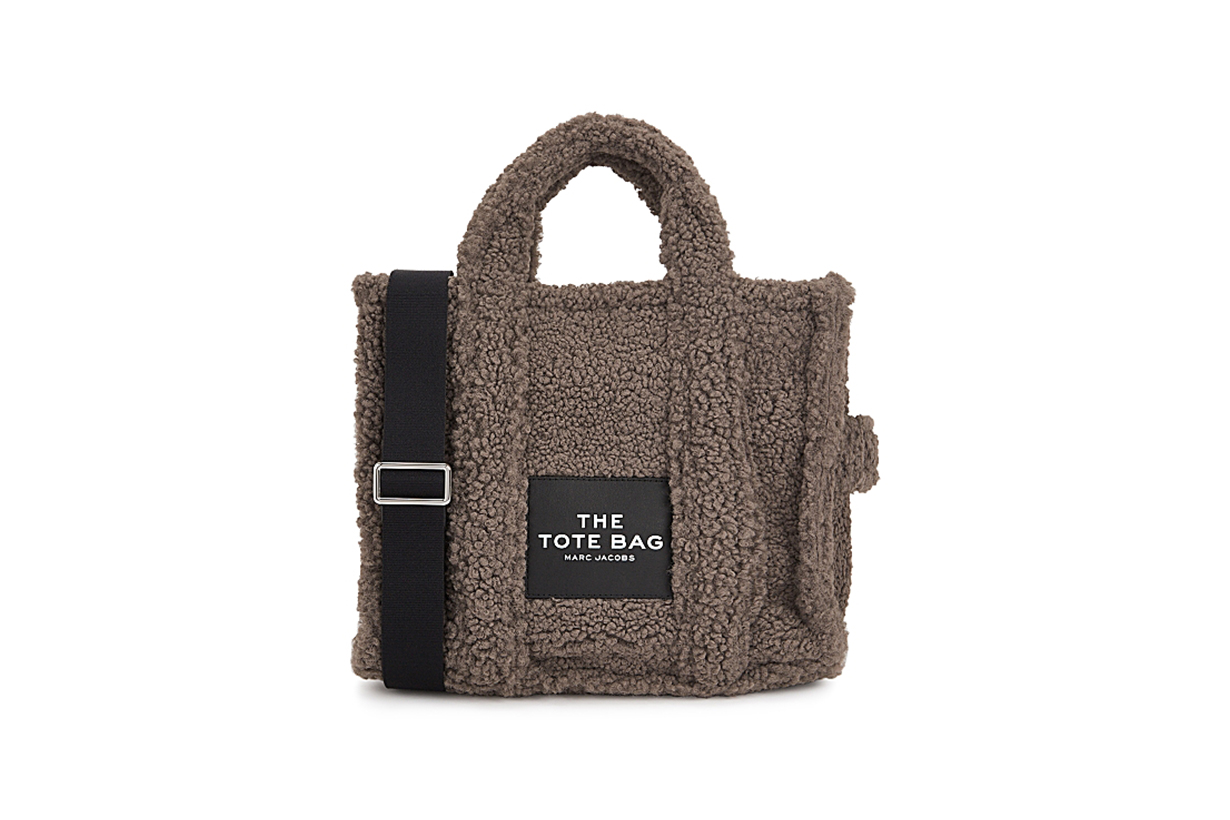 MARC JACOBS  The Teddy Traveller Tote small faux shearling bag