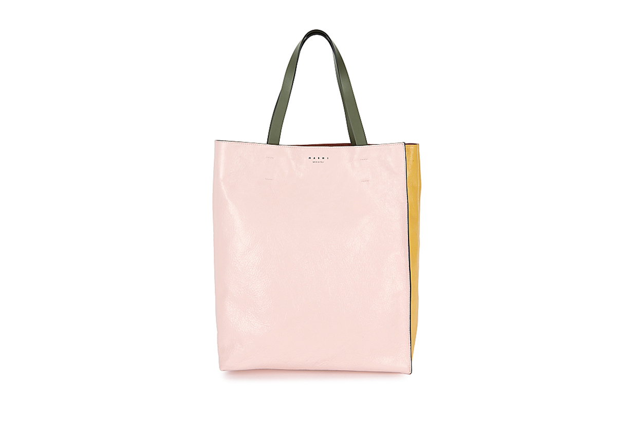 MARNI Museo panelled leather tote