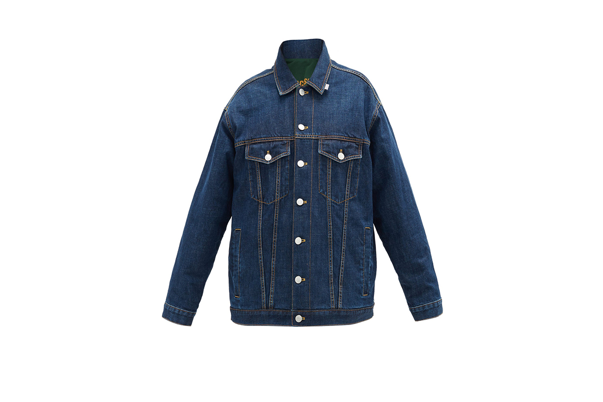 MARTINE ROSE Reversible oversized denim jacket