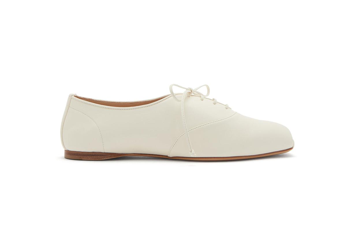 Maya square-toe nappa-leather oxford shoes