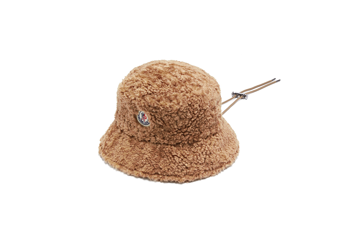MONCLER Toggle ties faux-shearling bucket hat