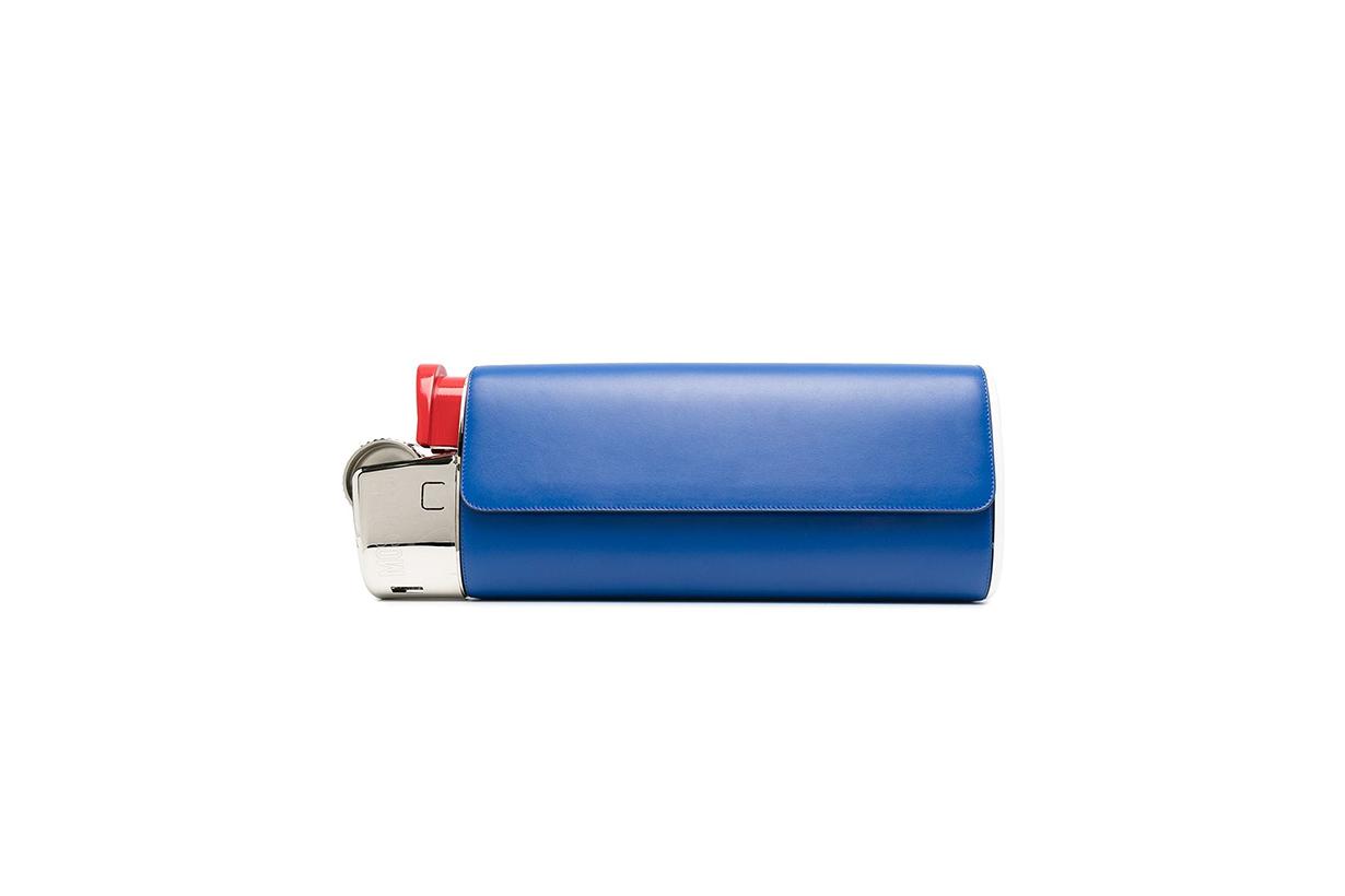 Moschino lighter clutch bag FW20 show runway New York subway handbag trends 2020 Christmas Party Outfit
