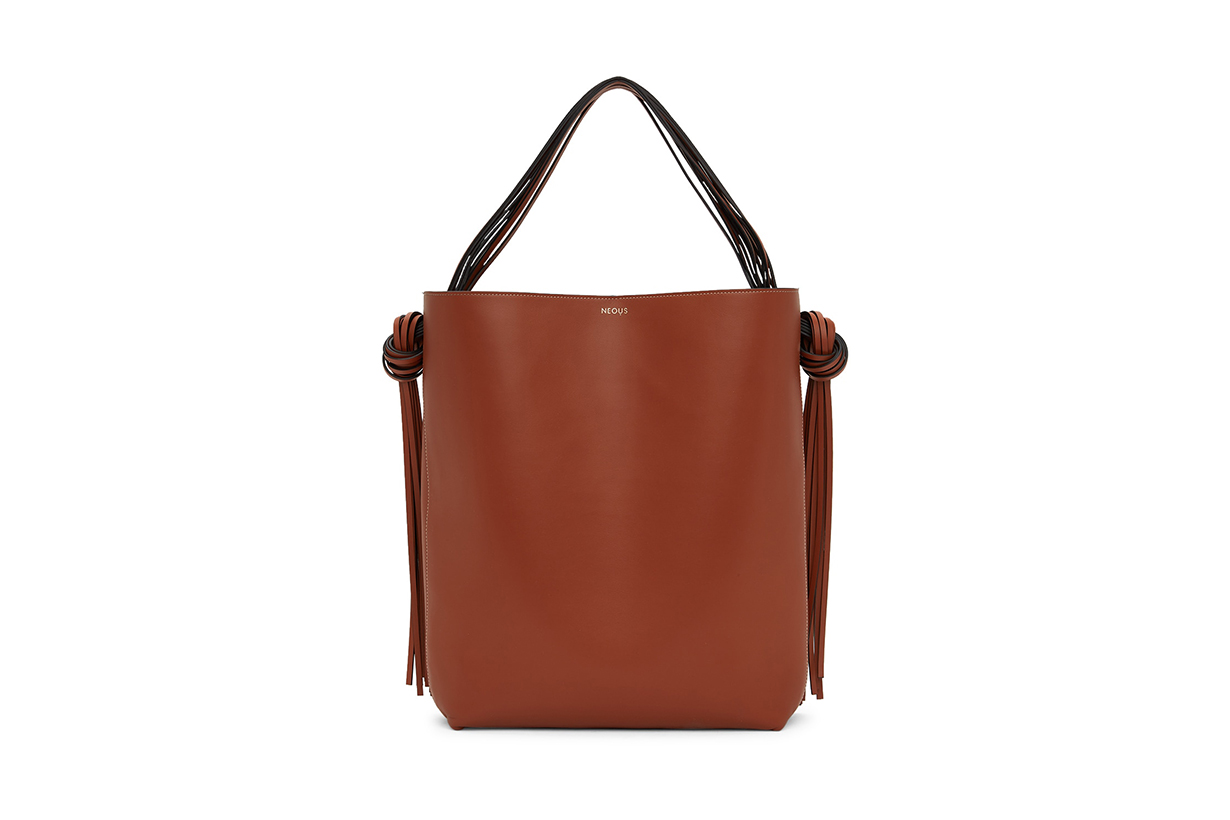 NEOUS Brown Oversized Saturn Tote