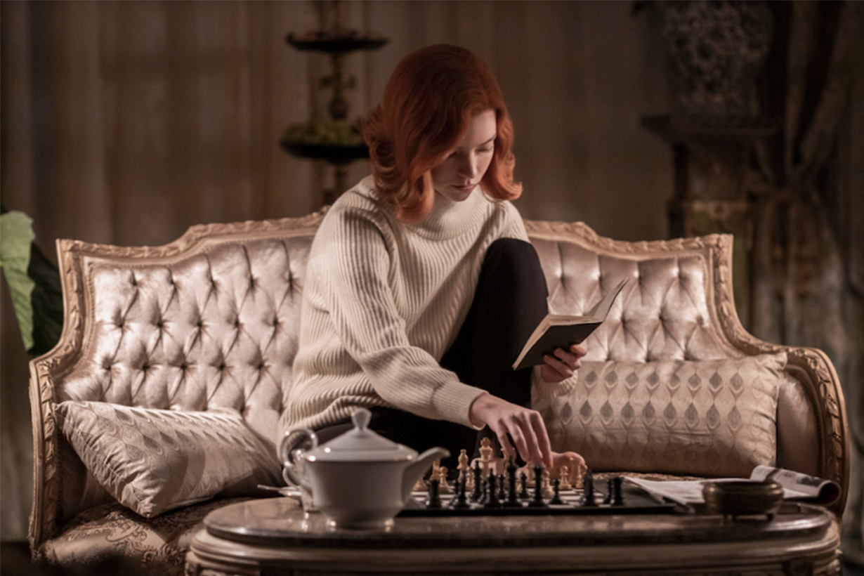 Anya Taylor-Joy Wears Turtleneck Sweater