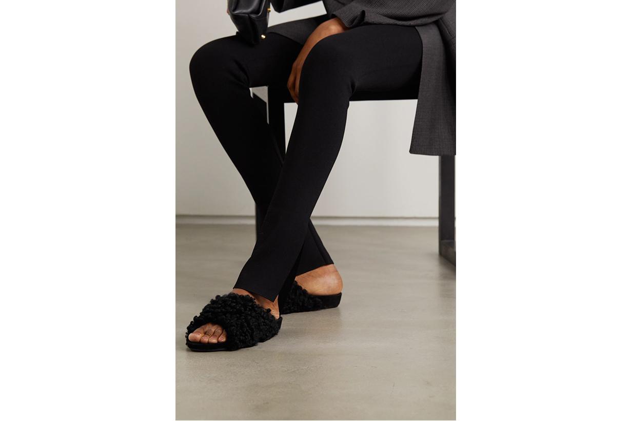 shearling fur sandals net a porter atp atelier collaboration doris