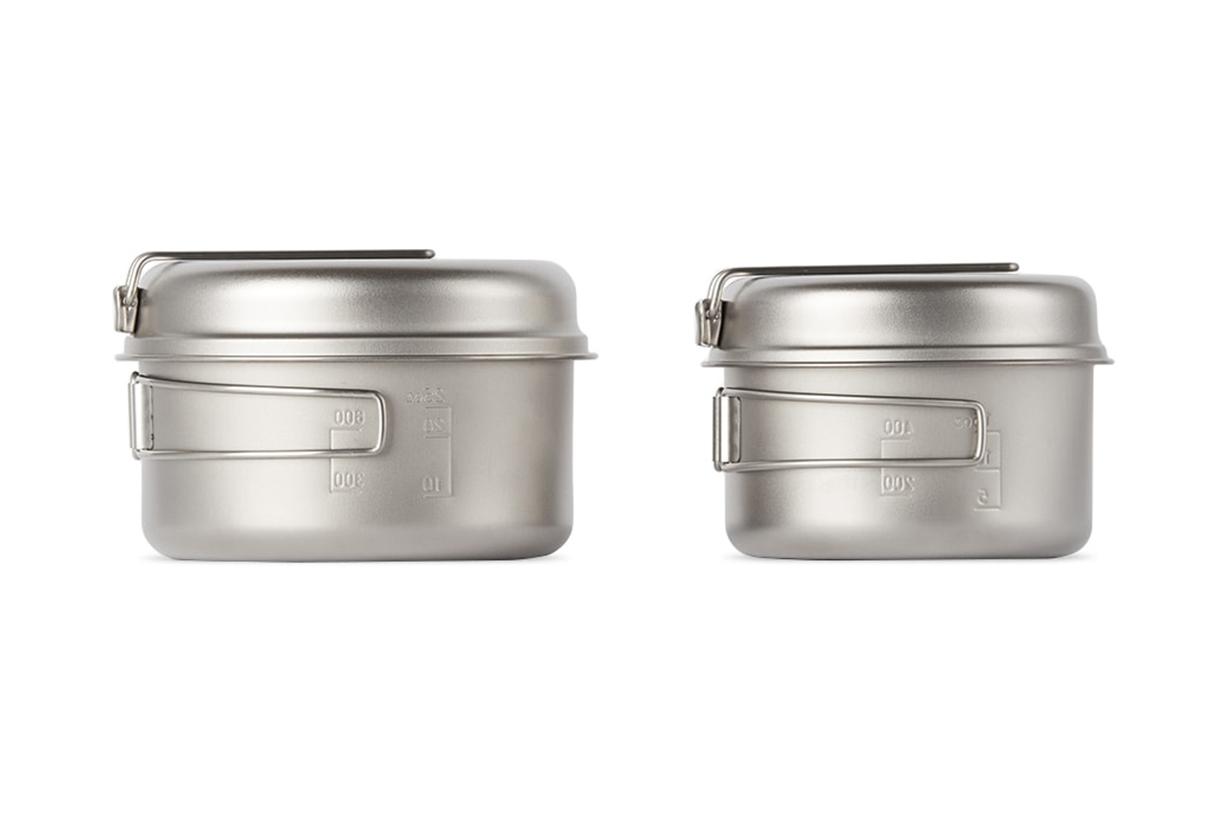 SNOW PEAK Silver Titanium Multi Compact Cookware Set