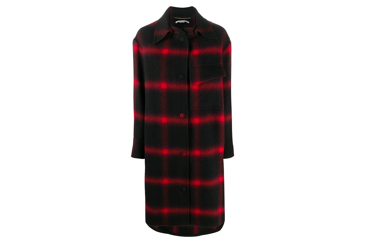 Stella McCartney checked wool coat