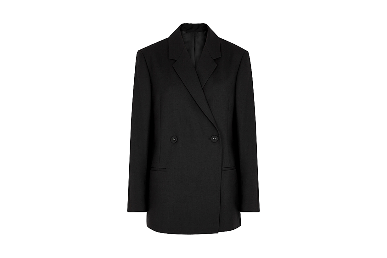 TOTÊME  Loreo black double-breasted blazer
