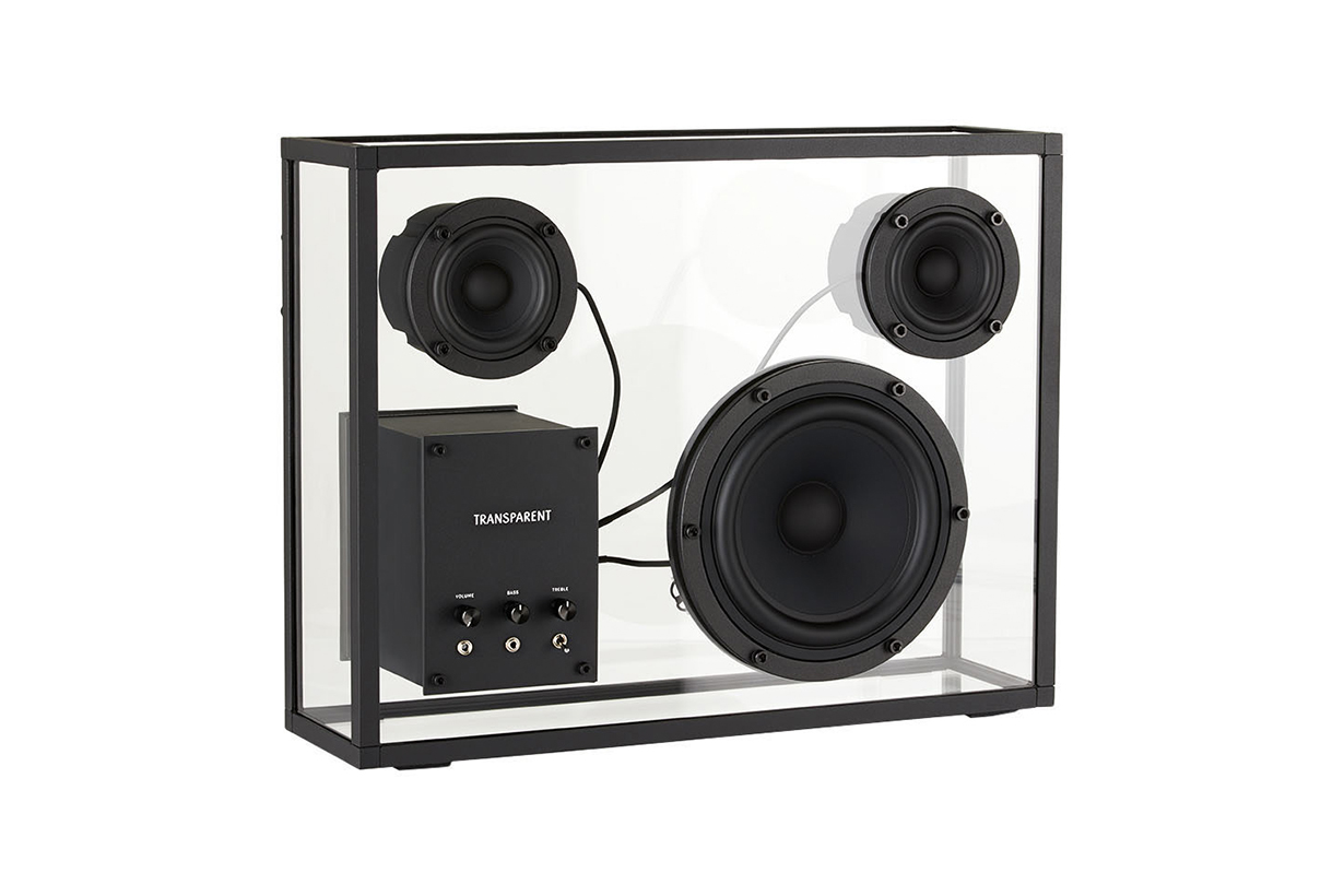TRANSPARENT Black Glass Speaker