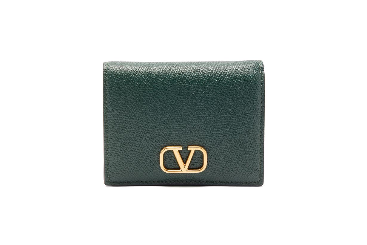 VALENTINO GARAVANI V-logo grained-leather wallet