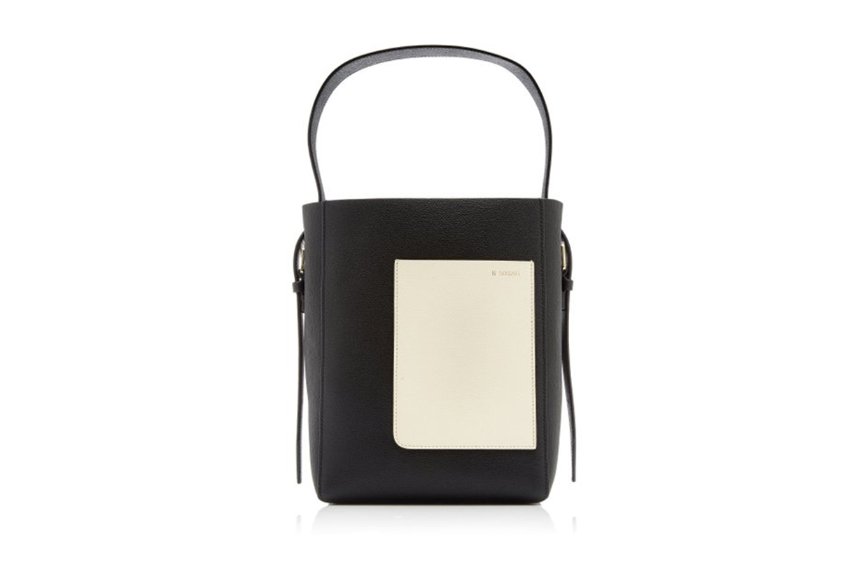 Valextra Small Leather Bucket Bag