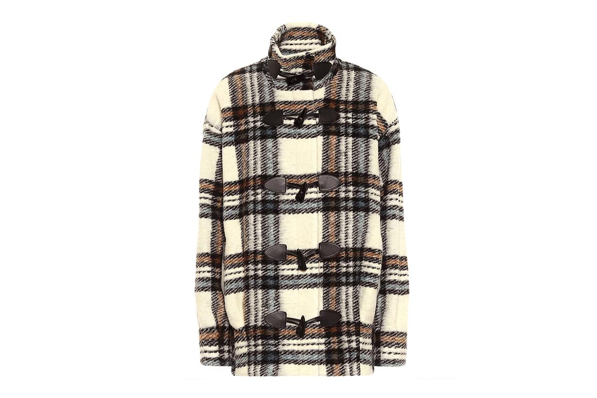 VERONICA BEARD Caelslate checked wool-blend coat