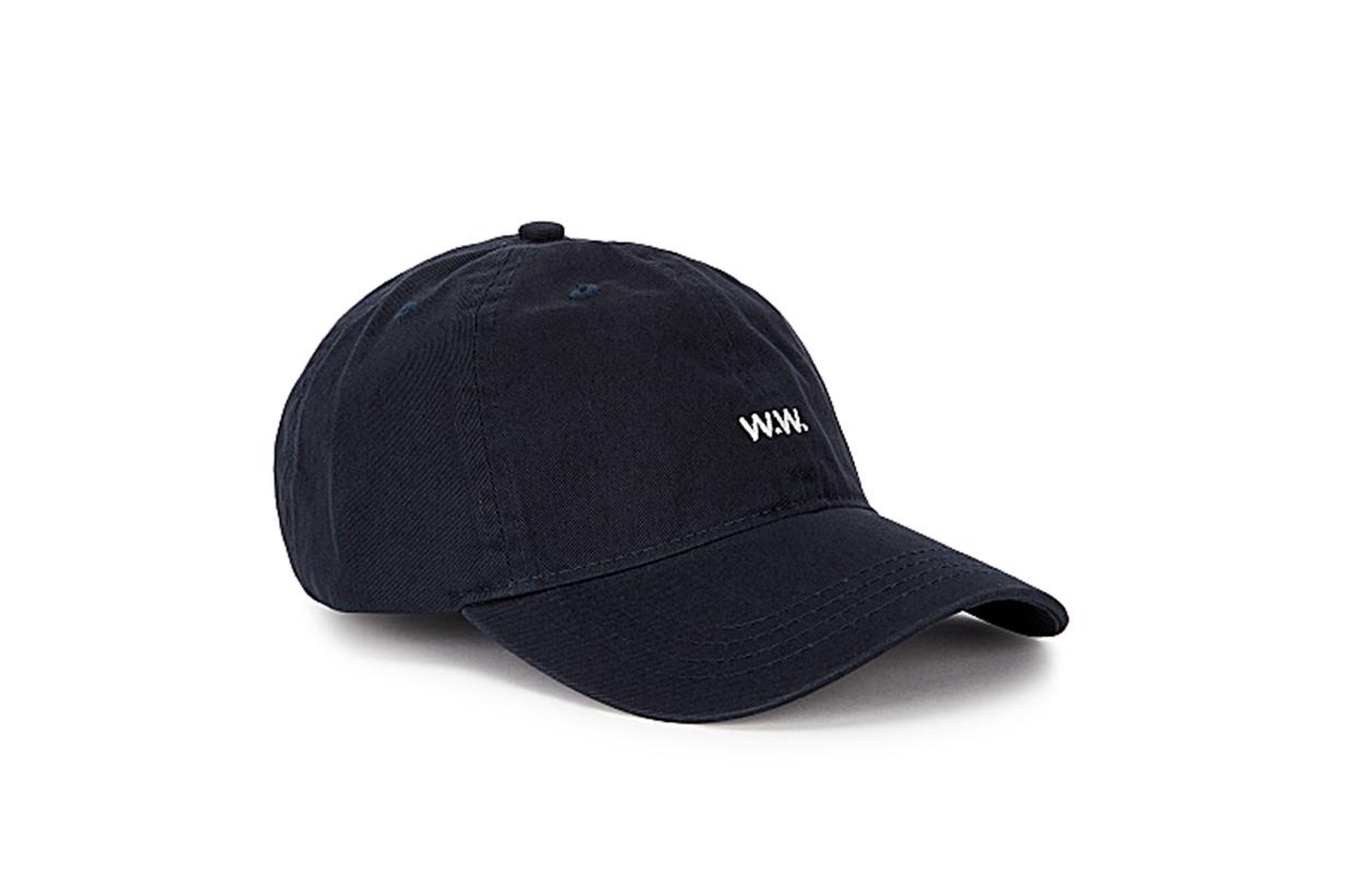 WOOD WOOD  Low Profile navy twill cap