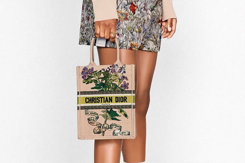 Dior Fleurs Bibliques Vertical Book Tote