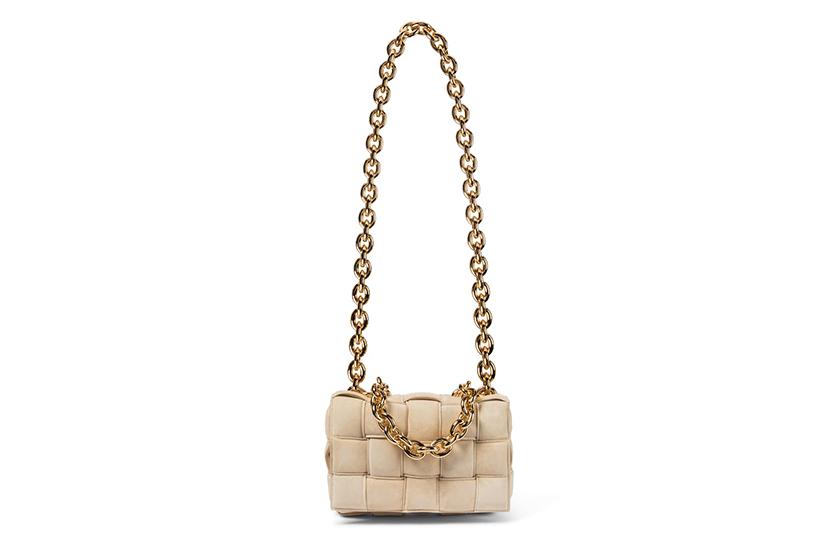Bottega Veneta Chain Cassette suede shoulder bag