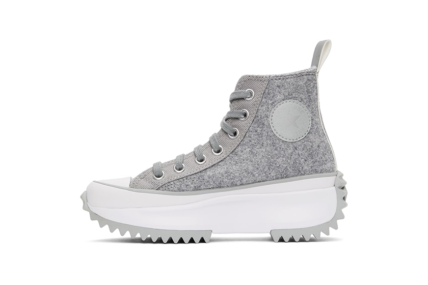 Converse Taupe Marble Run Star Hike High Sneakers