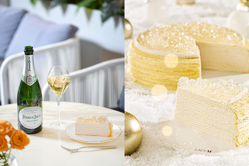 Lady M Perrier Jouet Mille Crepe Cake Valentines Day