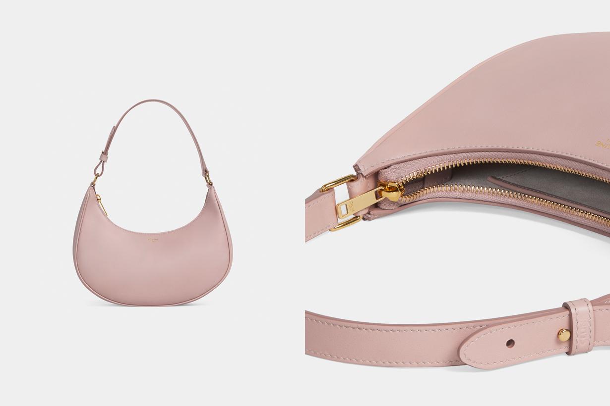 celine ava bag 2021 new tan vintage pink calfskin