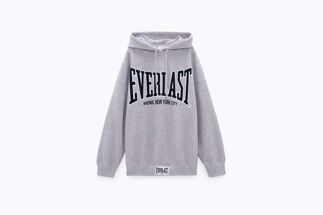 zara everlast collabration when where buy 2021 hoodie sweatshirt