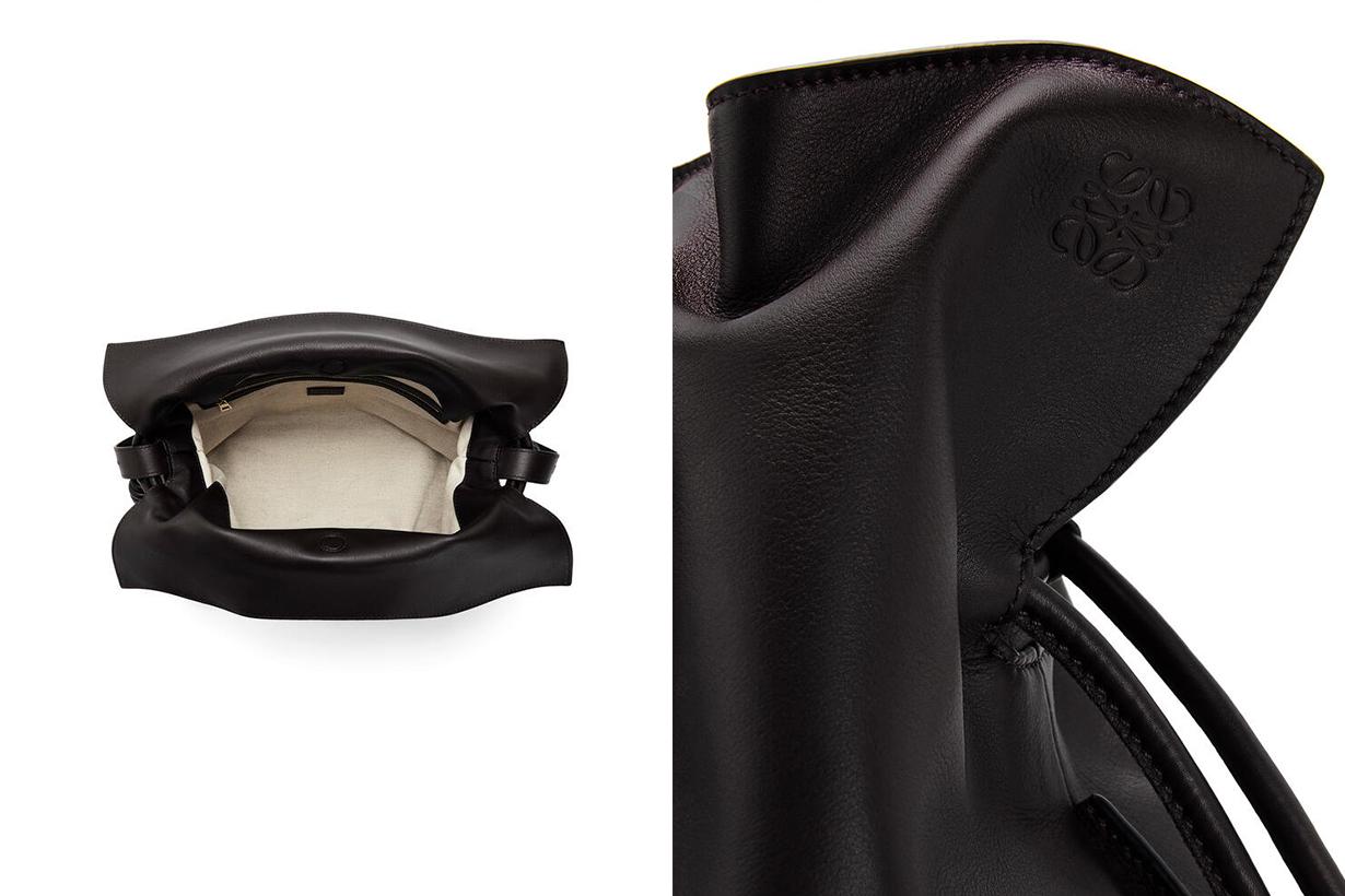 loewe Flamenco drawstring leather shoulder bag handbags
