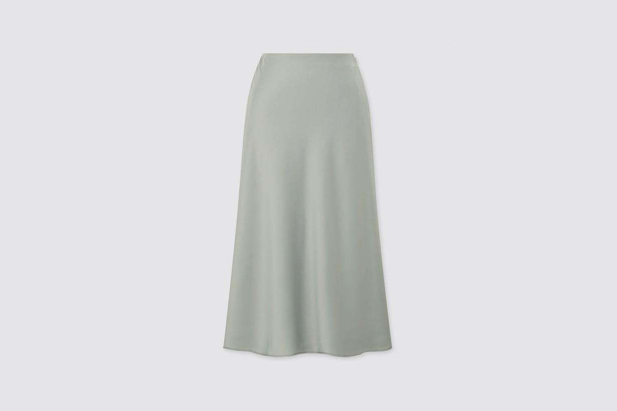 uniqlo satin skirt basic elegant can't miss