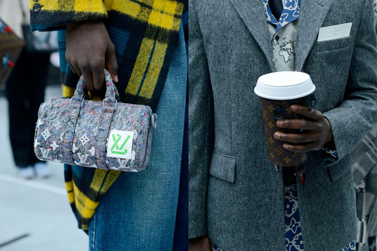 louis vuitton virgil abloh 2021 fw newspaper handbags detail