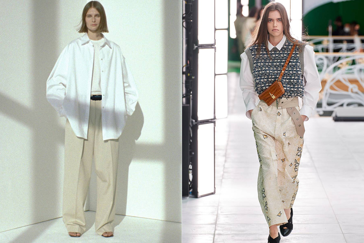 oversize button down fashion trend 2021