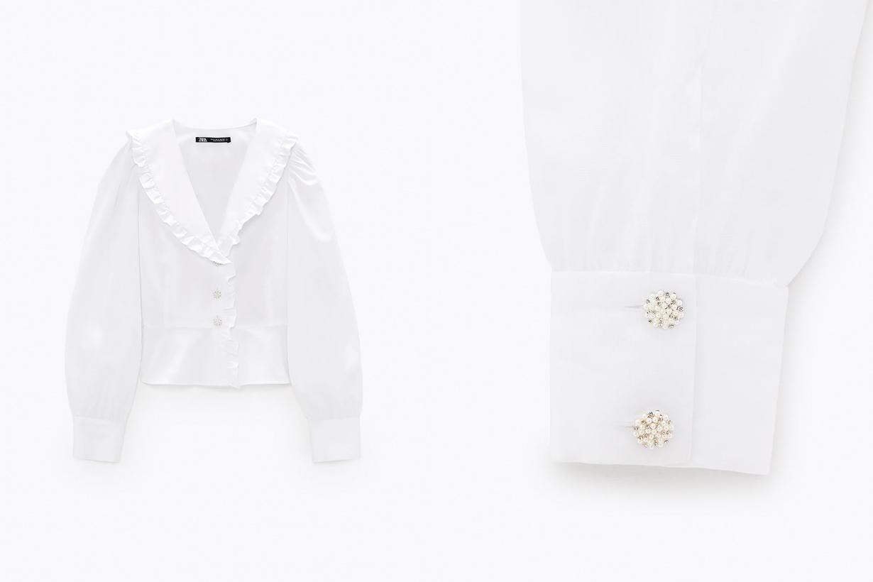 zara 2021 ss shirts 10 items popular retro spring