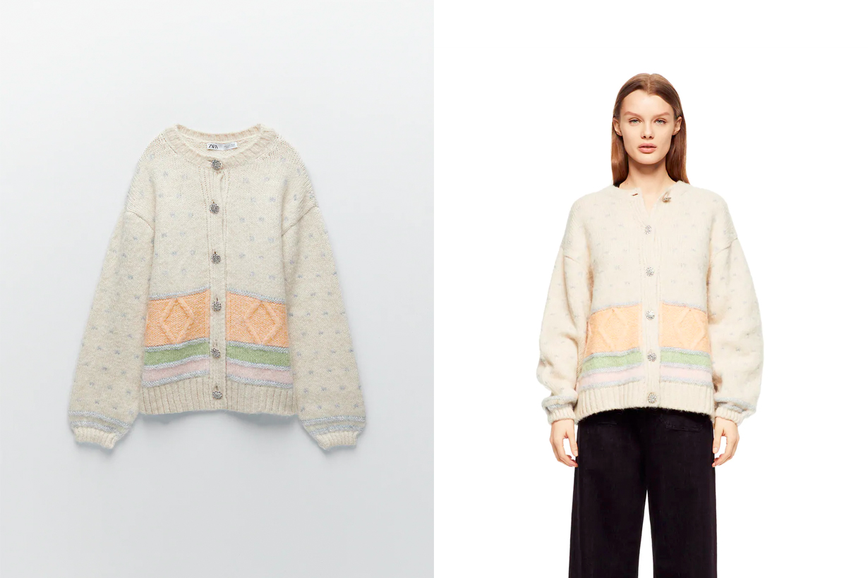 zara 2021 sweaters new spring sweater colorful vintage cardigan