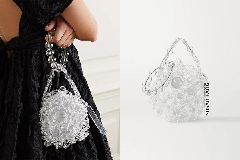 Susan Fang Beaded handbags Net-a-Porter Bubble Beaded