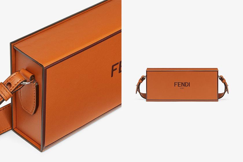 Fendi Packaging Handbags Vertical Box Long Box Black Brown
