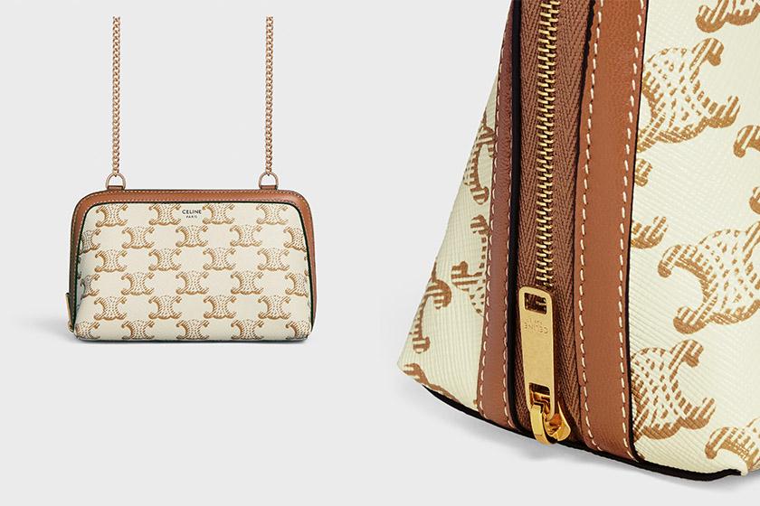 Celine Triomphe Canvas 2021 ss White Handbags