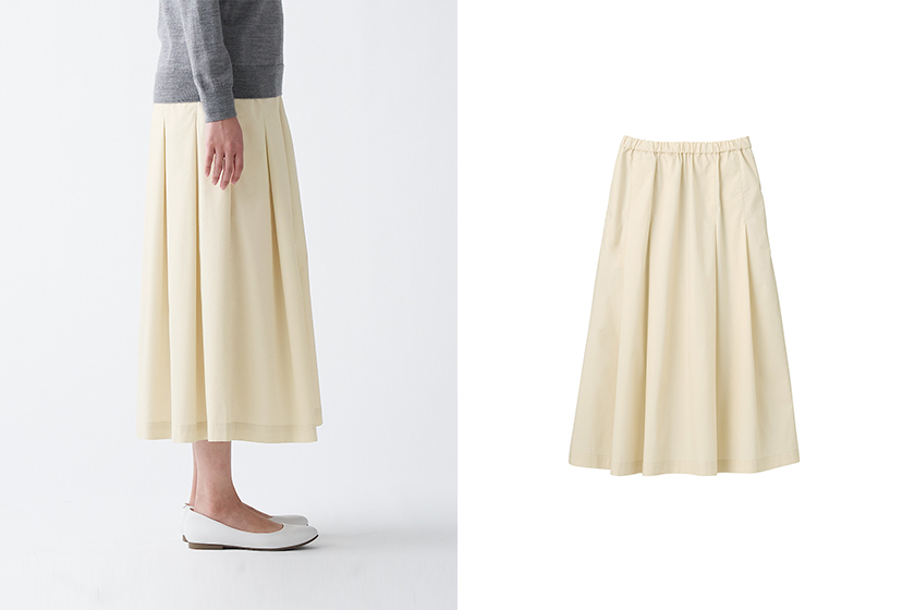 MUJI High Density Weave pleated Skirt Japanese Girl