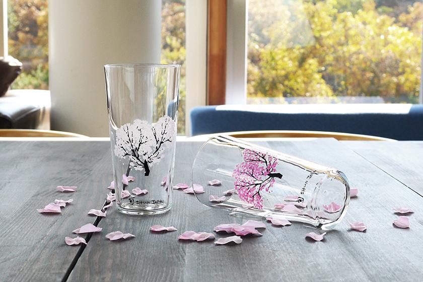 Marumo Takagi Japan Sake Glass Sakura Fujisan