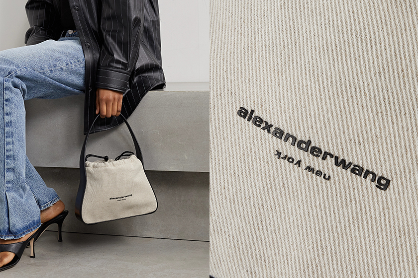 Alexander Wang Ryan Bag leather-trimmed printed satin tote
