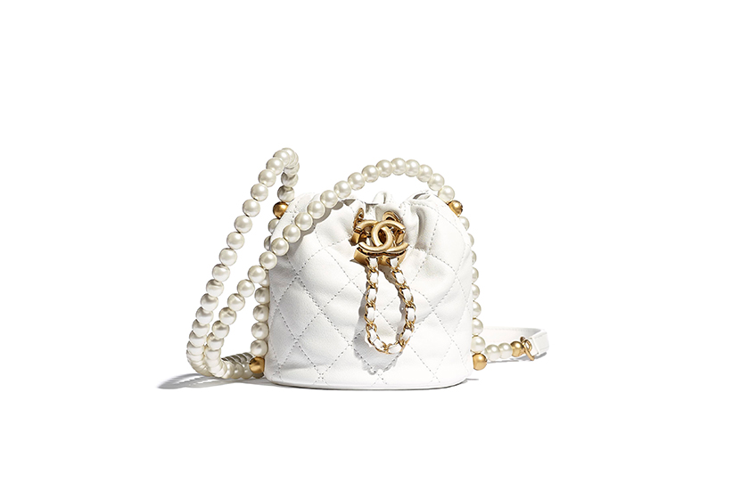 Chanel 10 Pearl Handbags Mini Bag Purse with Chain
