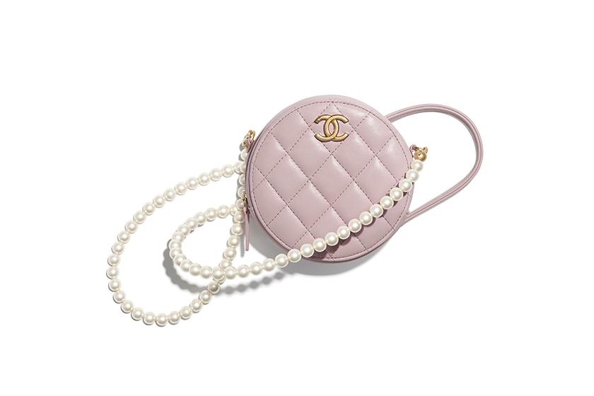 Chanel 10 Pearl Handbags Mini Bag Purse with Chain