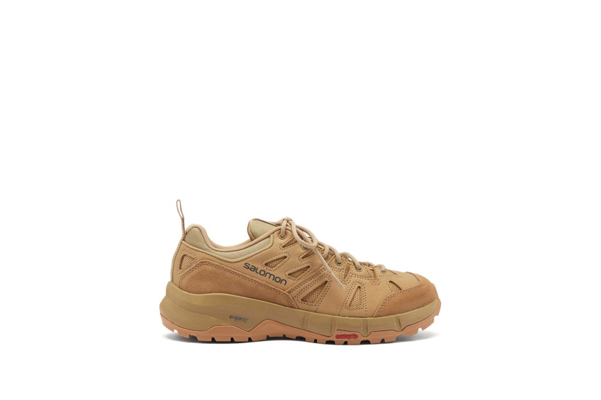 2021 Spring Summer fashion trends shoes trends sneakers ALEXANDER MCQUEEN Suede-trimmed canvas exaggerated-sole sneakers Salomon JIL SANDER Ribbed-sole leather trainers