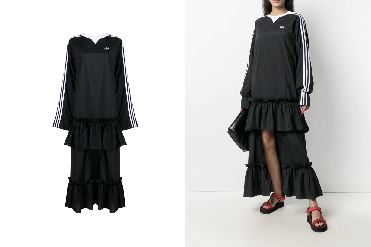 BLACKPINK adidas Originals Dress Black 2021 Spring new