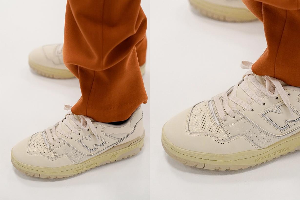 auralee new balance 550 2021 fw sneakers