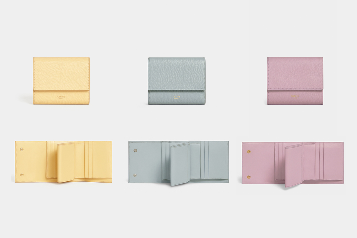 celine triomphe wallet 2021 SS pastel strap