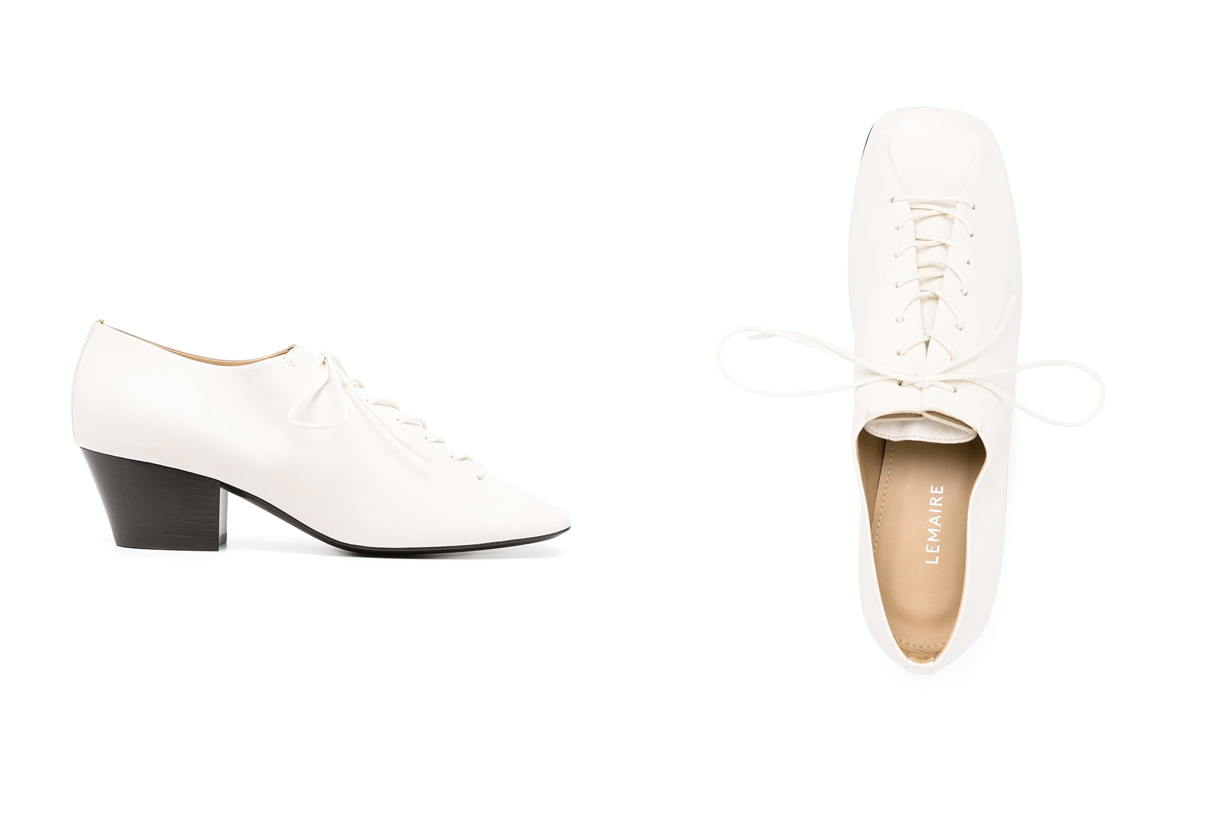 lemaire derby shoes white summer perfect minimal simple where buy