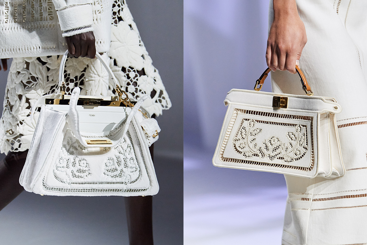 fend ss21 embroidered baguette bags handbags