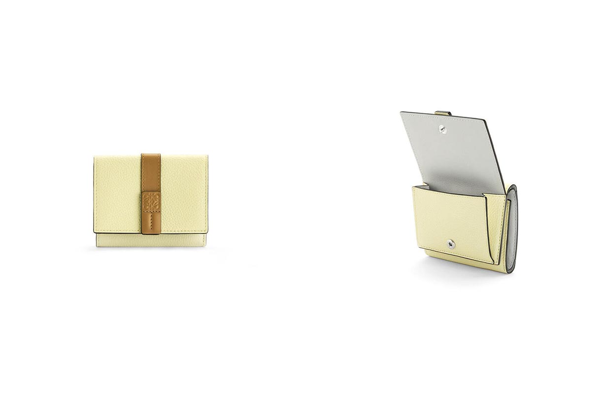 Loewe Trifold wallet in soft grained calfskin new color